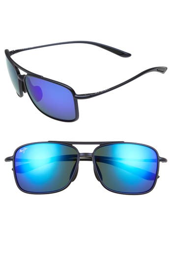 Maui Jim Kaupo Gap 61Mm Polarizedplus2 Sunglasses - Matte Blue/ Blue Hawaii