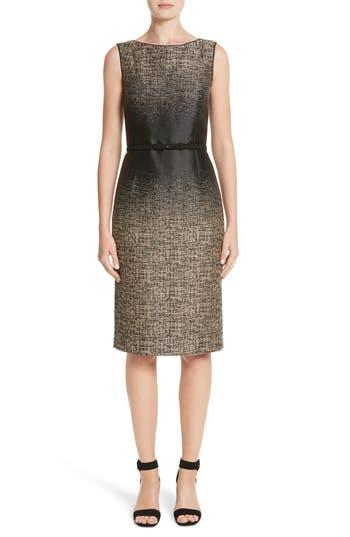 Lafayette 148 New York Paulette Jacquard Sheath Dress, Black