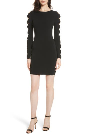 Ted Baker London Knotted Sleeve Body-Con Dress, Black