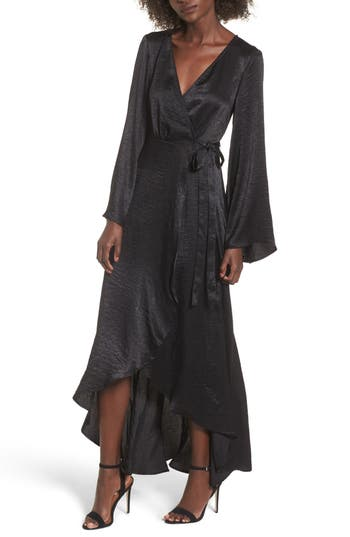 Women's Show Me Your Mumu Anita Wrap Maxi Dress, Size X-Small - Black
