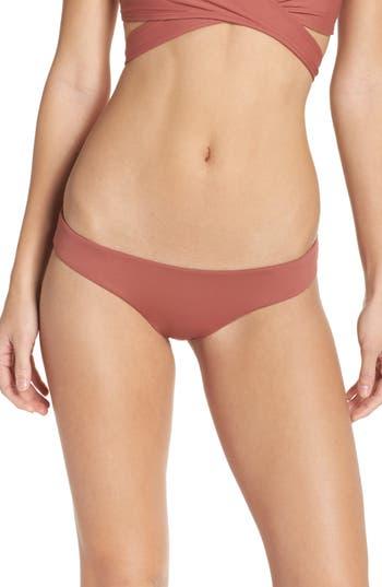 L Space Sandy Classic Bikini Bottoms, Brown