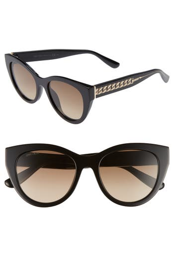 Jimmy Choo Chana 52Mm Gradient Sunglasses - Black