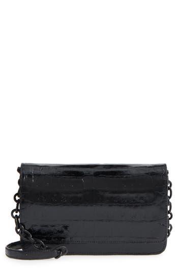 Women's Nancy Gonzalez Genuine Crocodile Wallet On A Chain - Black