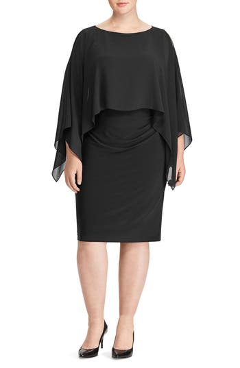 Plus Size Lauren Ralph Lauren Mercinitta Dress, Black