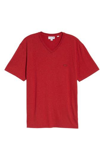 Lacoste V-Neck T-Shirt, Red
