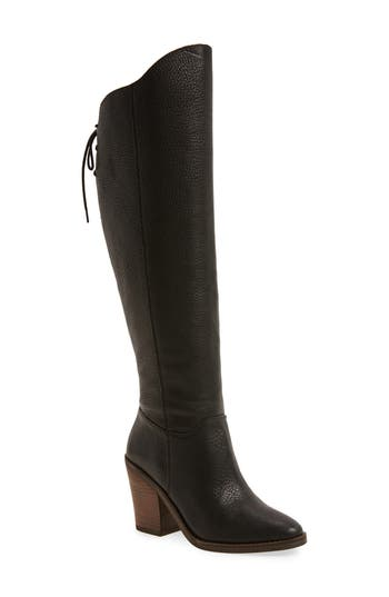 Lucky Brand Pembe Asymmetrical Boot- Black