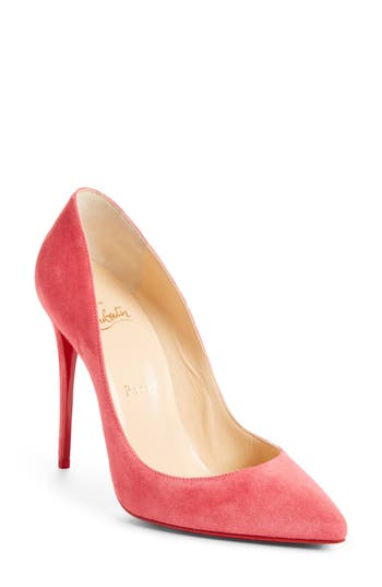 cd6caea8bab8 CHRISTIAN LOUBOUTIN Pigalle Follies Suede 100Mm Red Sole Pump ...
