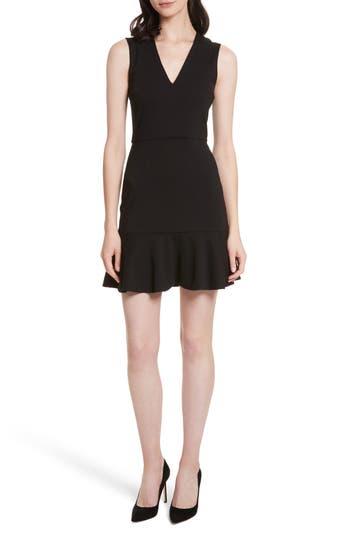 Alice + Olivia Onella V-Neck Dress, Black