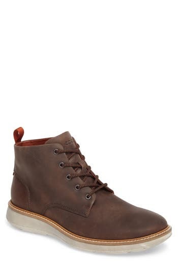 Ecco Aurora Plain Toe Boot - Brown