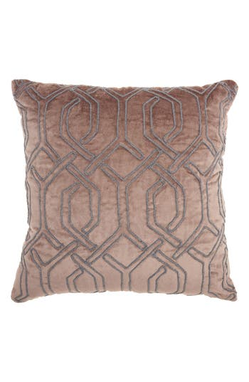 Mina Victory Velvet Gate Accent Pillow, Size One Size - Beige
