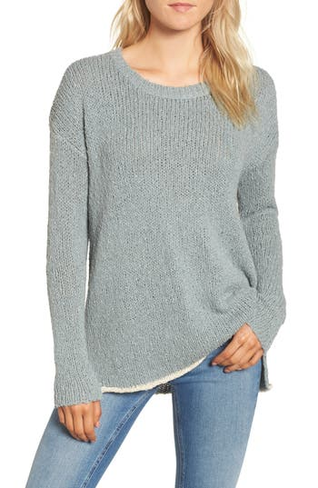 Women's James Perse Oversize Sweater, Size 0 - Blue