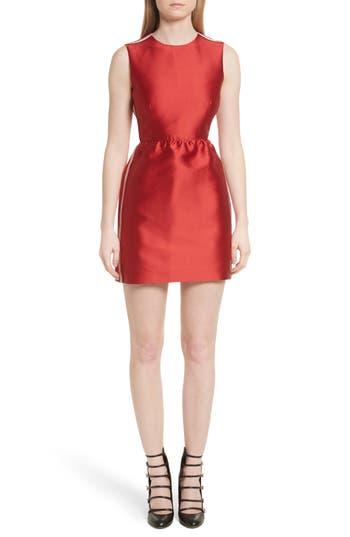 Red Valentino Stripe Twill Fit & Flare Dress, 8 IT - Red