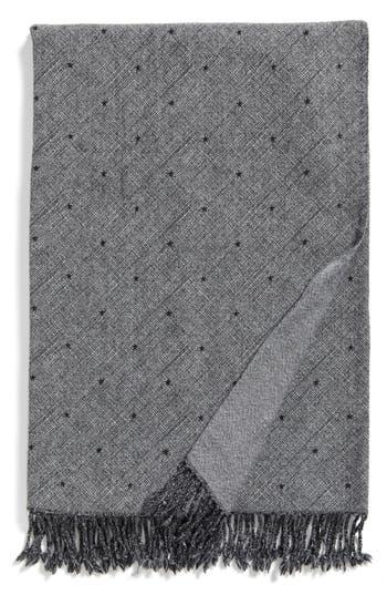 Modern Staples Blackstar Double Face Merino Wool Throw, Size One Size - Black