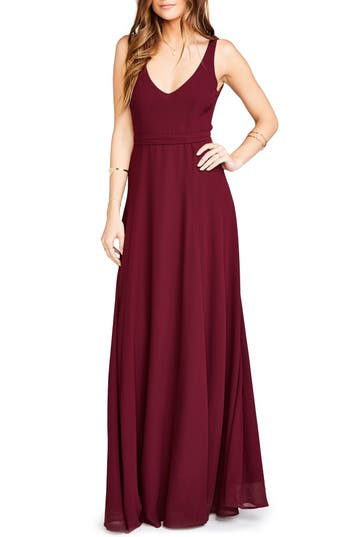 Show Me Your Mumu Jen Maxi Gown, Red