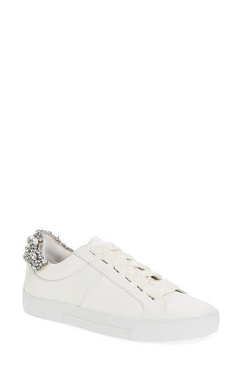 Joie Darena Crystal Embellished Sneaker, White