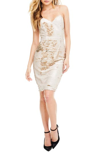 Astr The Label Francesca Sequin Dress, Metallic