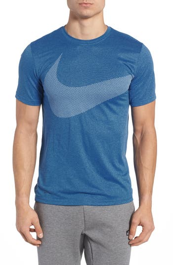 Nike Dry Swoosh Logo Training T-Shirt, Blue