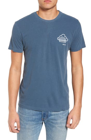 Rvca Never Not Having Fun Graphic T-Shirt, Blue