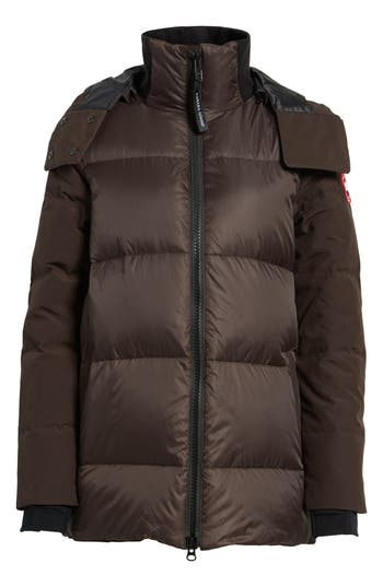 Canada Goose Whitehorse Hooded Water Resistant 675-Fill-Power Down Parka, (0) - Brown