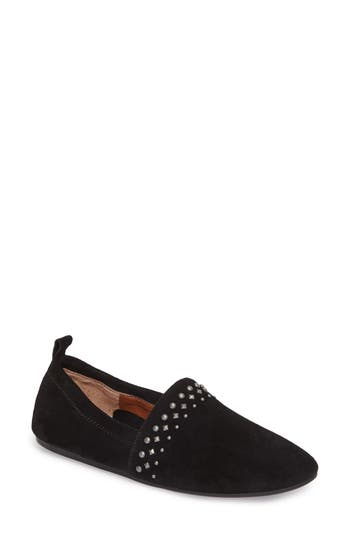 Lucky Brand Baako Studded Flat, Black