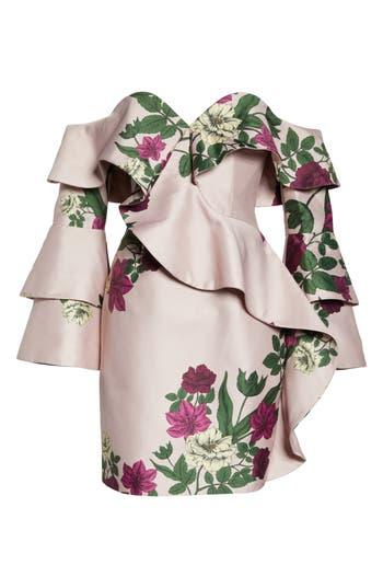 Keepsake The Label Night Lights Off The Shoulder Minidress, Pink
