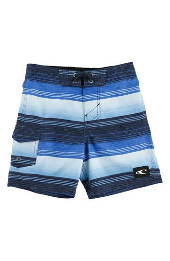 Boys ONeill Santa Cruz Stripe Board Shorts Size L  7  Blue