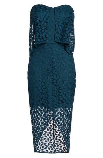 Chelsea28 Strapless Popover Dress, Blue/green