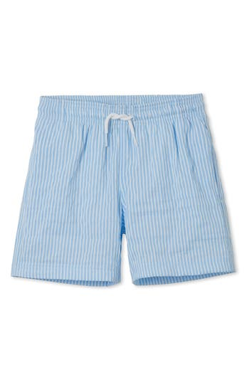 Boys Stella Cove Blue Stripe Swim Trunks Size 4Y  Blue