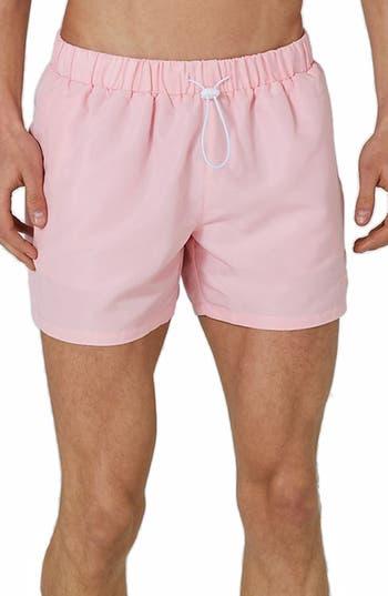 Topman Neptune Swim Trunks, Pink