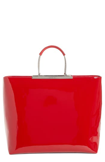 Alexander Wang Dime Patent Leather Tote - Red