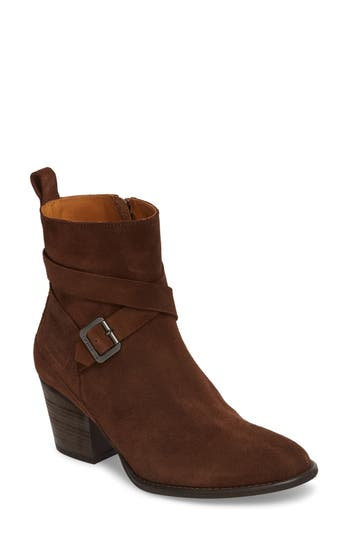 Women's Hunter Refined Water Resistant Strappy Boot, Size 9 M - Brown