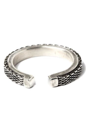 title of work Adjustable Micro Mesh Ring