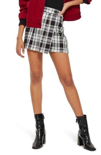 Women's Topshop Plaid Kilt Miniskirt, Size 2 US (fits like 0) - Blue