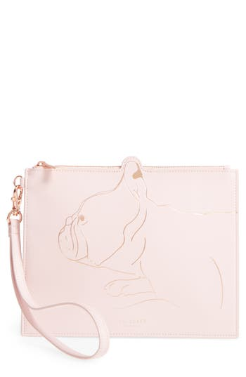 Ted Baker London Barker Leather Pouch - Pink