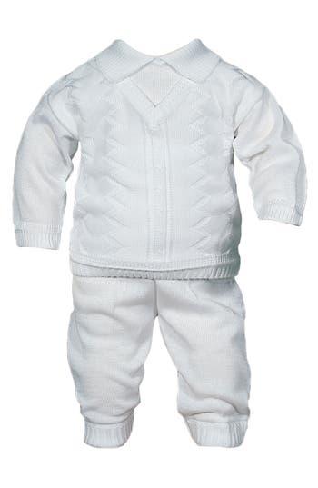 Infant Boys Little Things Mean A Lot Knit Shirt  Pants Set