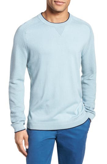 Ted Baker London Kayfed Rib Sleeve Sweater, (m) - Blue