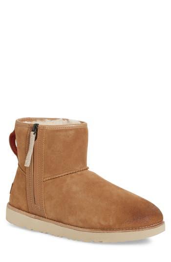 Ugg Mini Zip Waterproof Boot, Brown