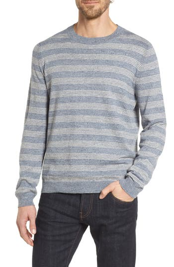 Grayers Stripe Cotton Sweater, Blue