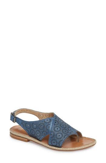 Johnston & Murphy Willow Flat Sandal, Blue