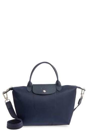Longchamp 'Small Le Pliage Neo' Nylon Top Handle Tote