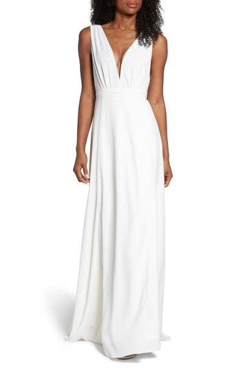 JOANNA AUGUST PLUNGING WRAP DRESS