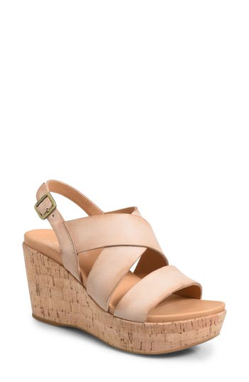 Kork-Ease Ashcroft Wedge Sandal, Beige