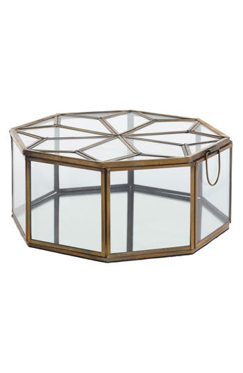 accent decor accent decor dynasty glass jewelry box metallic