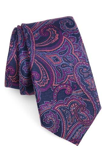 Men's Nordstrom Men's Shop Avalon Paisley Silk Tie, Size Regular - Blue