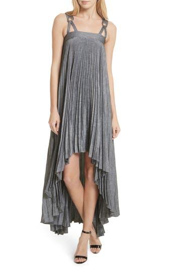 SAWYER HIGH/LOW LINEN BLEND DRESS