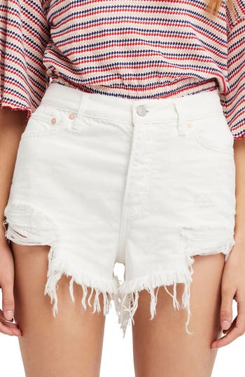 We the Free by Free People Loving Good Vibrations Cutoff Denim Shorts