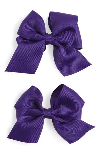Plh Bows & Laces Bow Clips, Size One Size - Purple