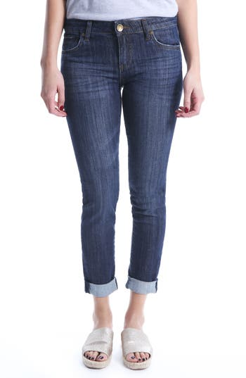 Petite Women's Kut From The Kloth Catherine Boyfriend Jeans, Size 2P - Blue