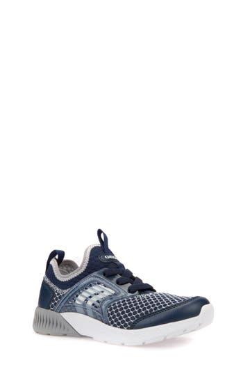 Boys Geox Sveth Sock Sneaker Size 5.5US  38EU  Blue