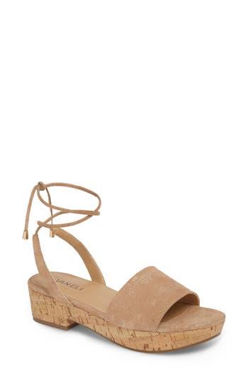 Vaneli Saba Platform Sandal, Beige